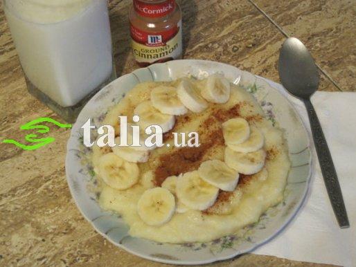Рецепт. Манная каша с бананом