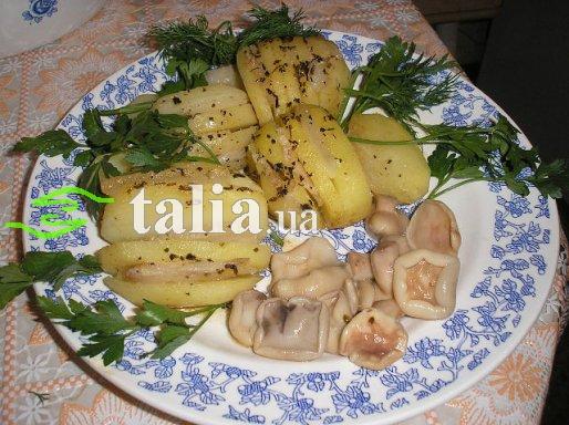 Рецепт. Картошка в микроволновке с салом