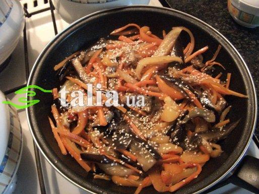 Рецепт. Баклажаны по-корейски