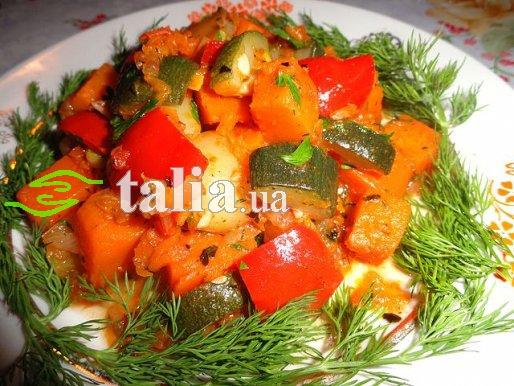 Рецепт. Рагу из кабачков с овощами