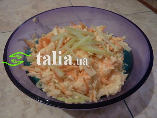 Рецепт. Салат из редьки