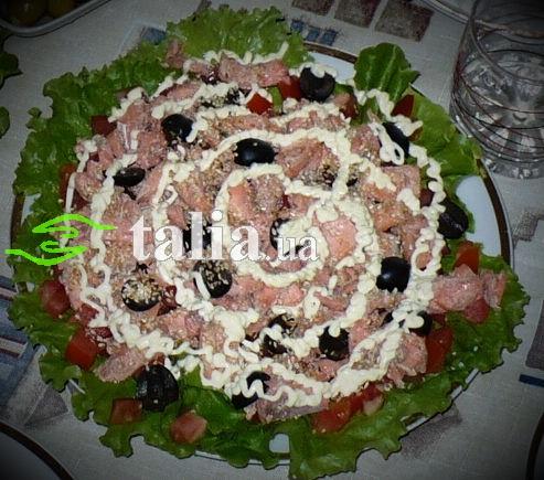 Рецепт. Салат с семгой