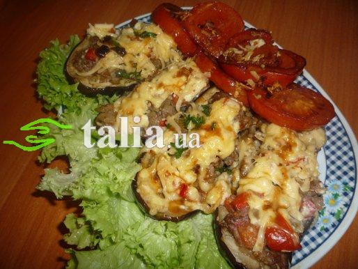 Рецепт. Запеченные баклажаны (лодочки)