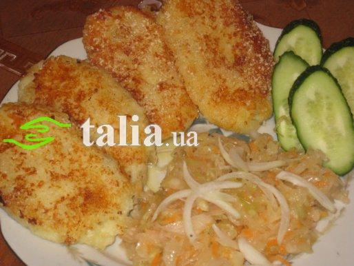 Рецепт. Зразы с капустой в панировочных сухарях
