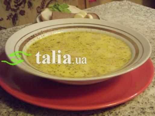 Рецепт. Суп с плавленным сыром