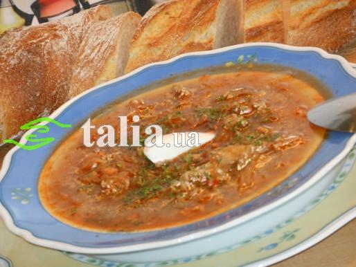 Рецепт. Суп с капустой