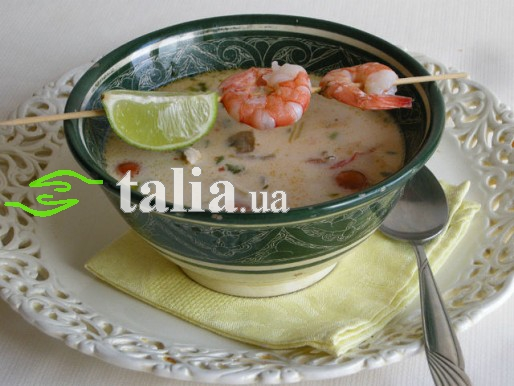 Рецепт. Кокосовый суп