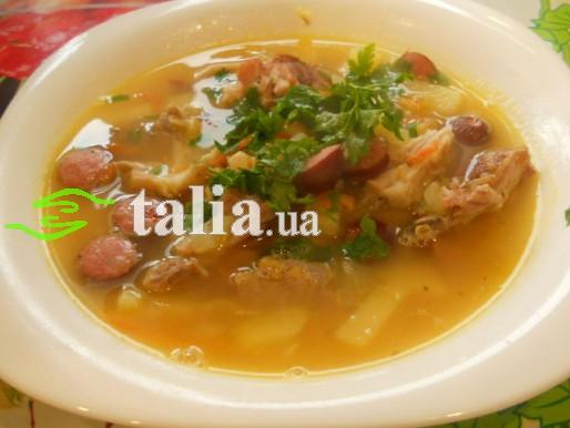 Рецепт. Копченый суп