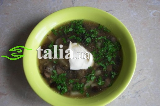 Рецепт. Суп с маслятами