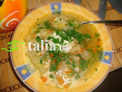 Рецепт. Детский суп с овощами