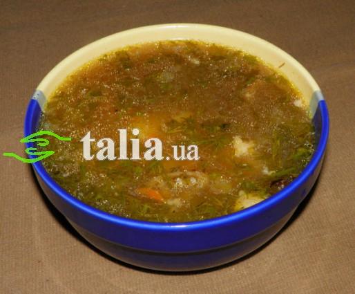 Рецепт. Суп овсяный