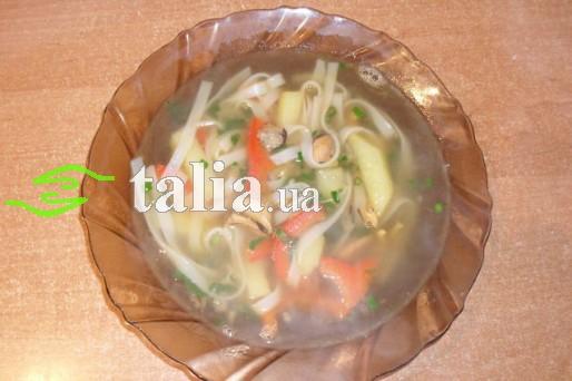 Рецепт. Суп с фунчозой