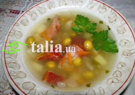 Рецепт. Суп с горошком