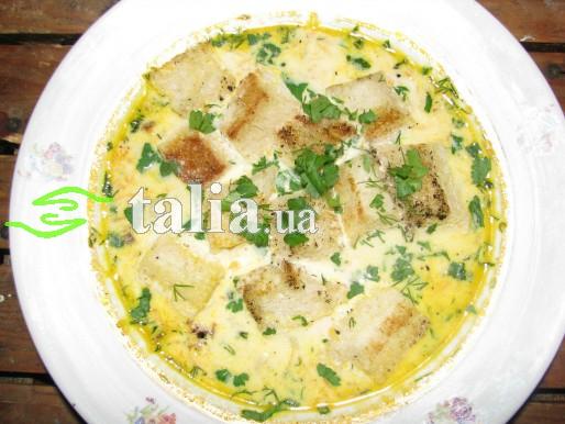 Рецепт. Суп с гренками