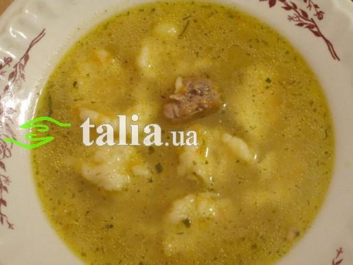 Рецепт. Суп с клецками