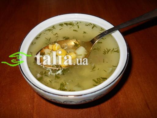 Рецепт. Суп с кукурузой