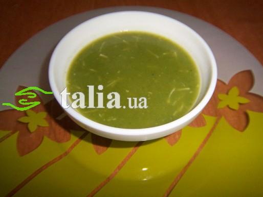 Рецепт. Суп из шпината