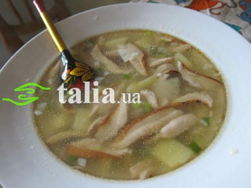 Рецепт. Суп из белых грибов