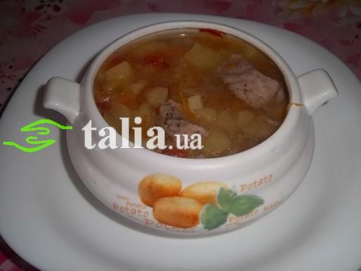 Рецепт. Суп из свинины
