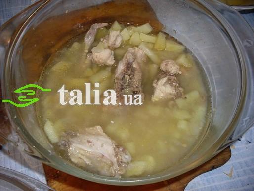 Рецепт. Суп в микроволновке с курицей