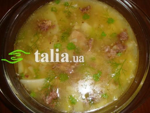 Рецепт. Суп в микроволновке с тушёнкой