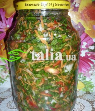 Рецепт. Суп на зиму с зеленью