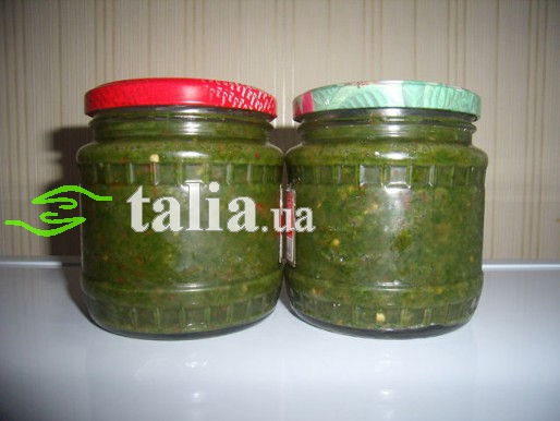 Рецепт. Заправка для супа из петрушки