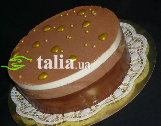 Рецепт. Торт ''Три шоколада'' со сливочным ликером