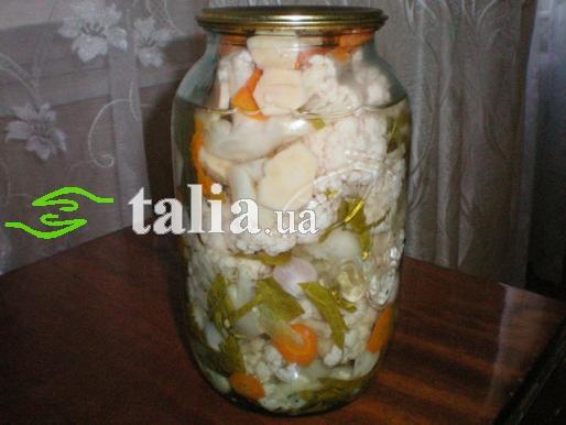 Рецепт. Маринованная цветная капуста