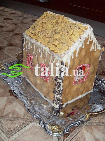 Рецепт. Торт ''Домик'' с медовыми коржами