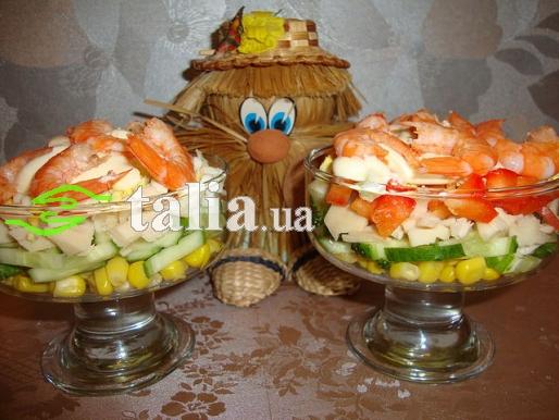 Рецепт. Салат ''Коктейль с морепродуктами''