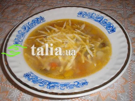 Рецепт. Суп ''Минестроне'' овощной с сыром