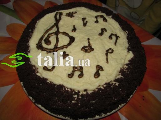 Рецепт. Торт ''Моцарт'' с черно-белым муссом