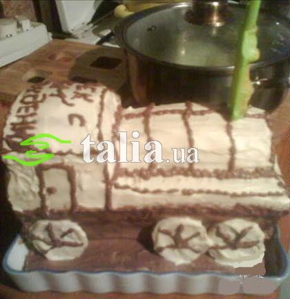 Рецепт. Торт ''Паровозик из Ромашково''