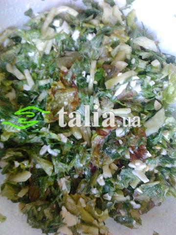 Рецепт. Салат из черемши с яйцами