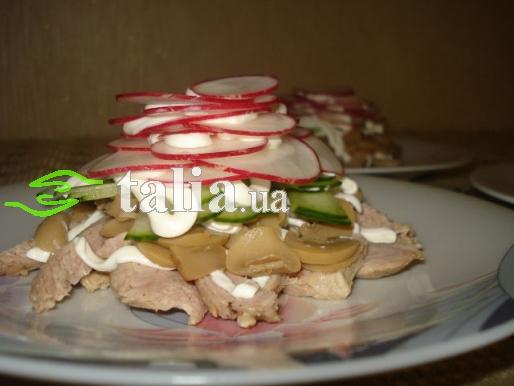 Рецепт. Салат из редиски и мяса ''Мечта''