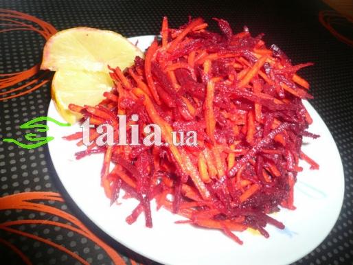 Рецепт. Салат ''Щетка'' с сырыми овощами