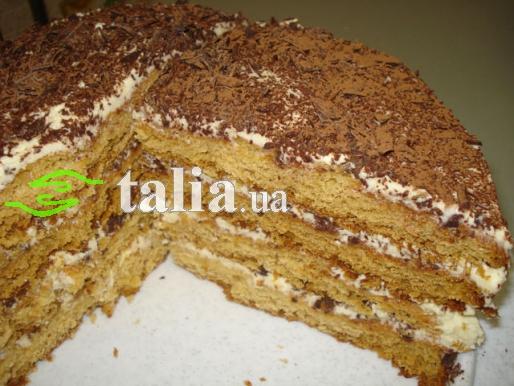 Рецепт. Торт ''Сказка'' с медовыми коржами