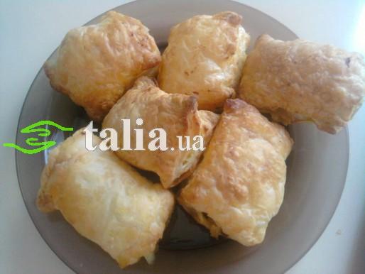 Рецепт. Слоеные пирожки с мясом и картофелем