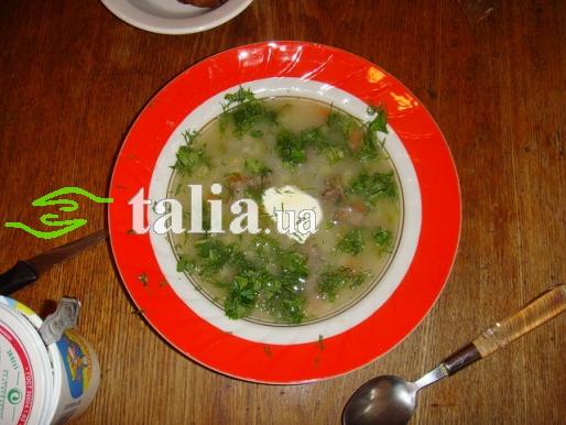 Рецепт. Суп из баранины и перловкой