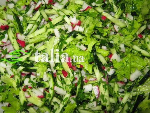 Рецепт. Салат из одуванчиков ''Витаминный''