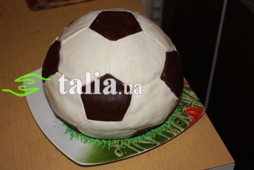 Рецепт. Торт ''Футбольный мяч'' с вишней
