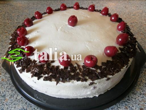торт шоколадный с вишней и сыром маскарпоне