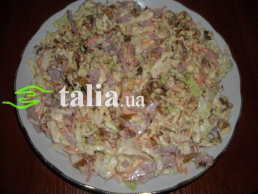 рецепт салата вкусняшка с грибами