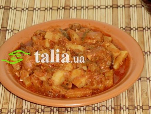 Рецепт. Азу по-татарски с телятиной
