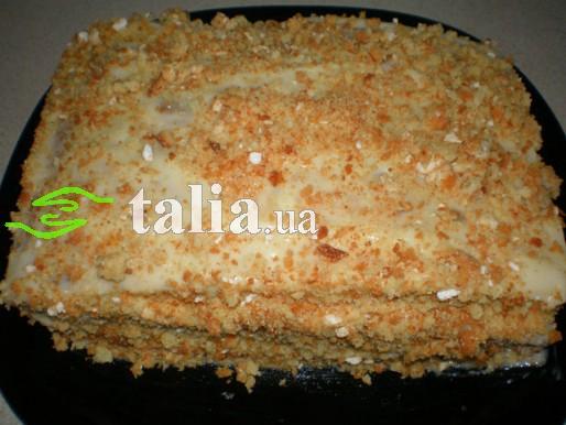 Рецепт. Быстрый торт с заварным кремом