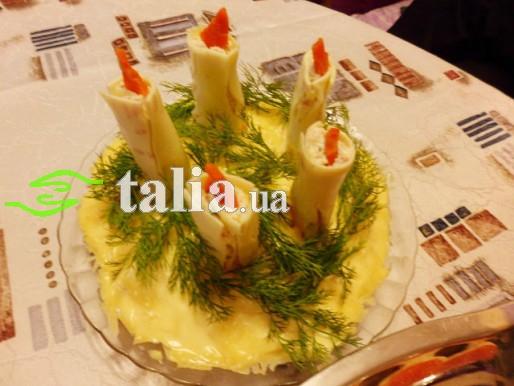 Рецепт. Салат «День рождения» с курицей