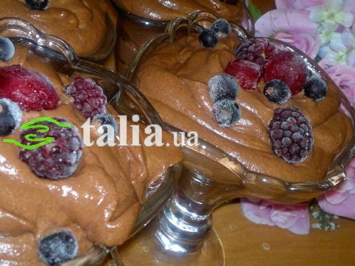 Рецепт. Шоколадный мусс со сливками