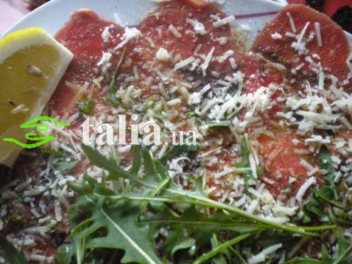 Рецепт. Карпаччо из телятины в маринаде