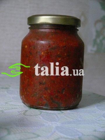 Рецепт. Аджика абхазская (острая) из запечённых острых перцев